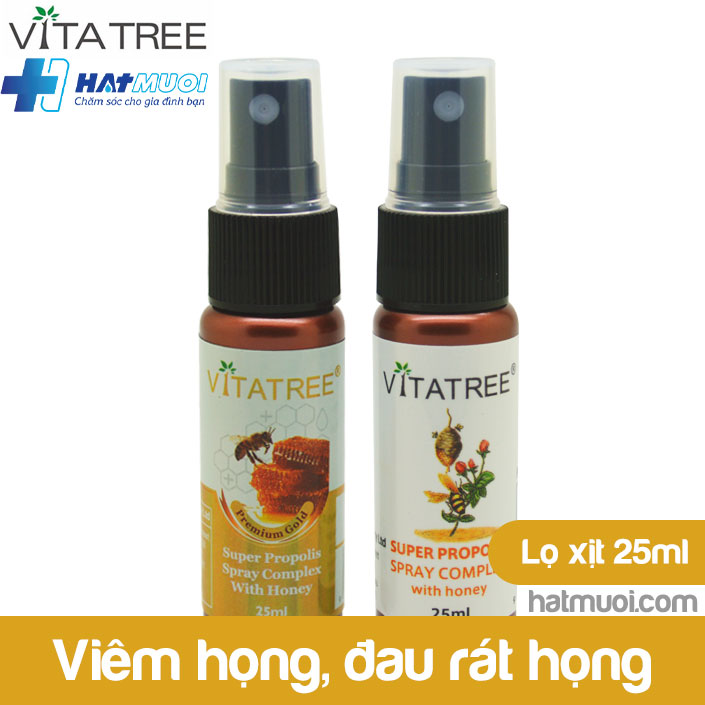 Xịt họng keo ong Vitatree Úc  - Ngăn ngừa cảm cúm, rát họng, hơi thở có mùi, Viêm họng, đau rát họng, ho, đờm, tăng cường miễn dịch cao cấp