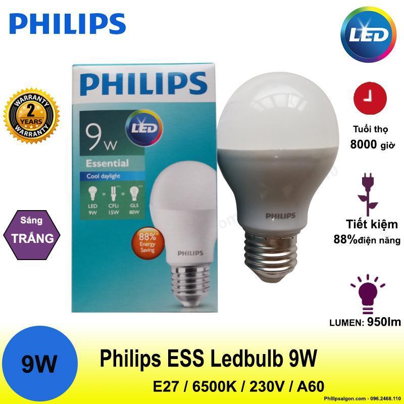 Bóng đèn Led Philips 5W / 7W / 9W / 11W / 13W siêu sáng - siêu tiết kiệm điện - bảo hành 24 tháng - PhilipSaigon
