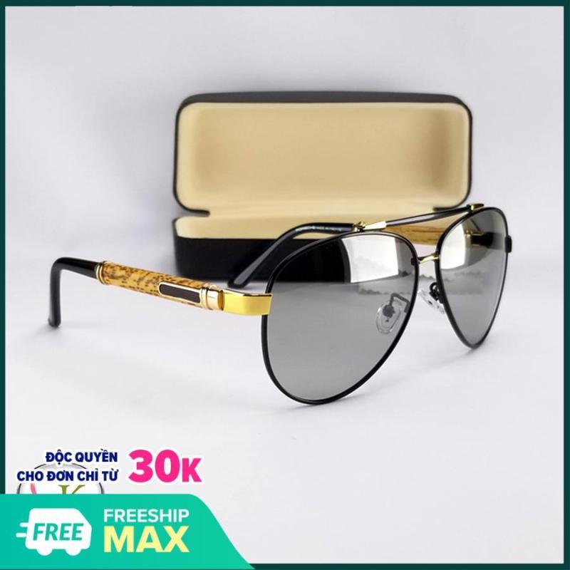 Mua Mắt kính nam đổi màu dùng cho ngày và đêm- Kính nam thời trang tặng hộp đựng kính và khăn lau kính,Kính đổi màu bảo hành 12 tháng