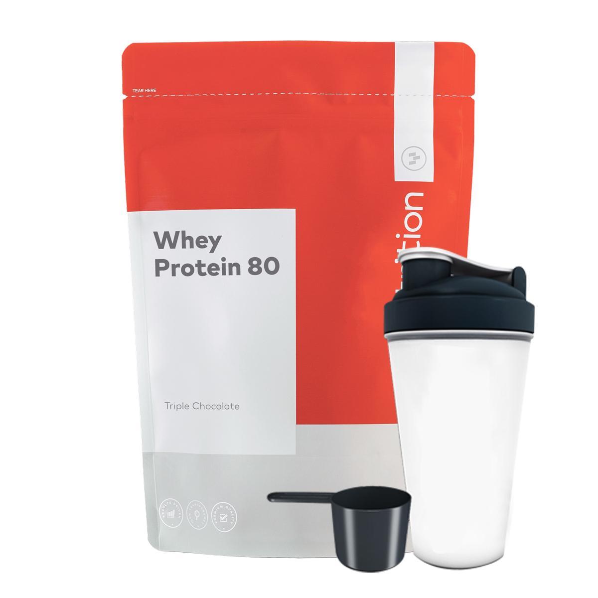 Combo Sữa tăng cơ - whey protein 80 - Go Nutrition - 1kg 40 lần dùng & Bình lắc 700 ml