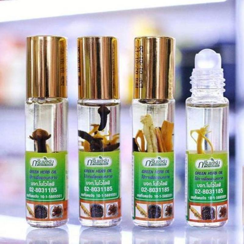 Dầu Nhân Sâm Nhập Khẩu Thái Lan - Dầu Sâm Lăn Green Herb Oil Thảo Dược 8ml