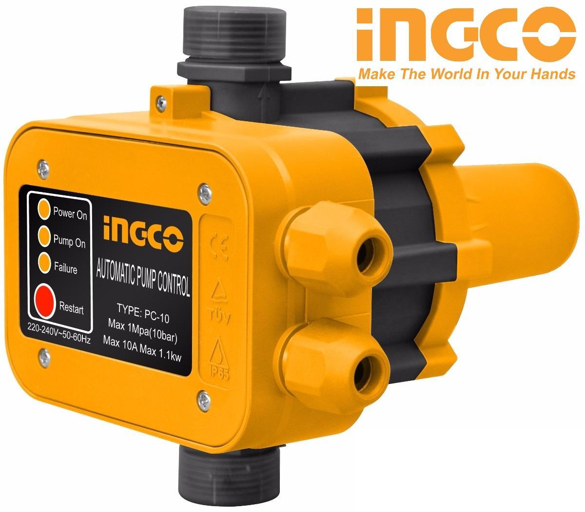 Rờ le tự động bơm nước bằng áp suất Automatic Pump Control 10Bar 10A INGCO WAPS001