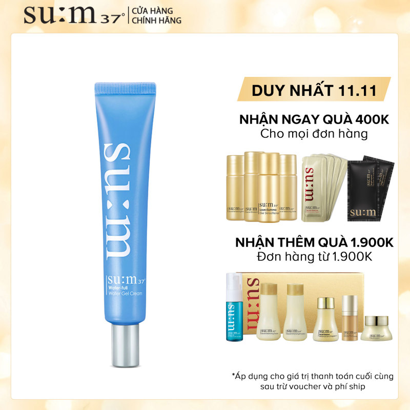 Kem cấp nước chuyên sâu trẻ hóa da Su:m37 Water-full Water Gel Cream 25ml giá rẻ