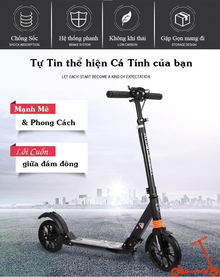 Mua Xe Trượt Scooter Thể Thao Người Lớn Adult Scooter Anne Lawson A5-DW  Disc Brake Style