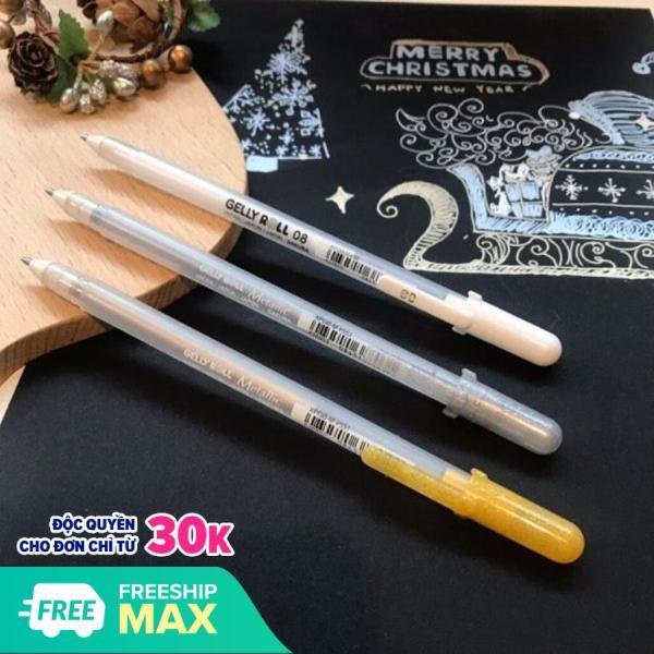 Mua Bút gel trắng SAKURA GELLY ROLL có thể vẽ trên các bề mặt tối màu, mực không thấm nước, ổn định, không phai (Nhiều Size)