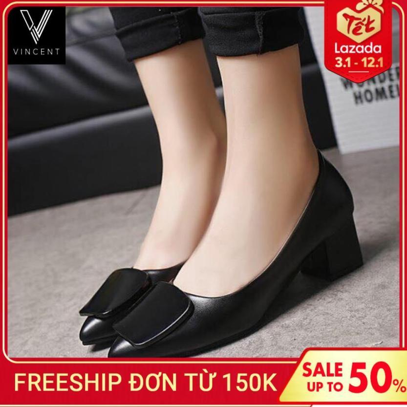 Giày Cao Gót Mũi Nhọn Đế Cao 5cm Đẹp , Sieu Bền 3 Màu Đỏ, Xám,Đen giá rẻ