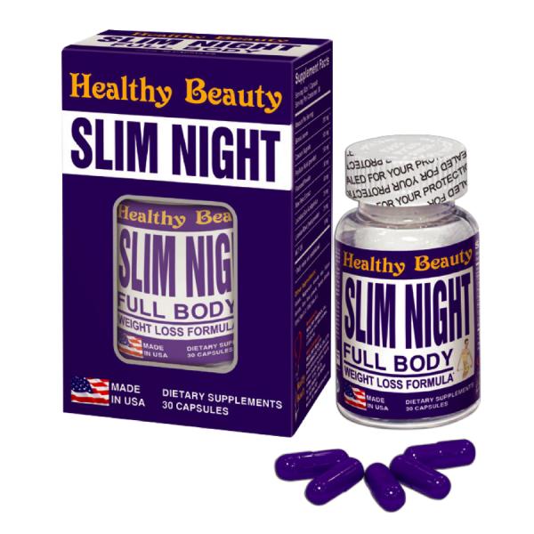 Healthy Beauty HB SLIM NIGHT (C/30V)- Thực Phẩm Chức Năng -Hạn Chế Hấp Thu Chất Béo, Giúp Nhuận Tràng