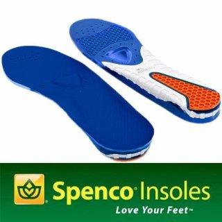 Miếng lót giày hỗ trợ đau gót Spenco Gel Comfort size 3 (40-42) (Xanh) thumbnail