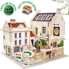 Hình ảnh Mô hình nhà gỗ DIY - 3D Jigsaw Puzzle Wooden Toys HPMB6133