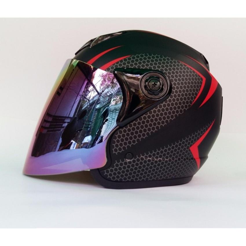 Bán Mũ Bảo Hiểm Moto Napoli Sport 039 Kinh Gương Tem Đỏ Napoli
