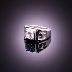 Giá Bán Nhẫn Nam Đinh Đa Fengshui The Crystal 6141 8 Trắng Mới