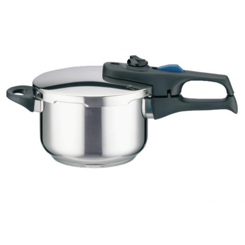 Hình ảnh Nồi áp suất bếp từ Elo Praktika Plus XL 6 Lít (Bạc)