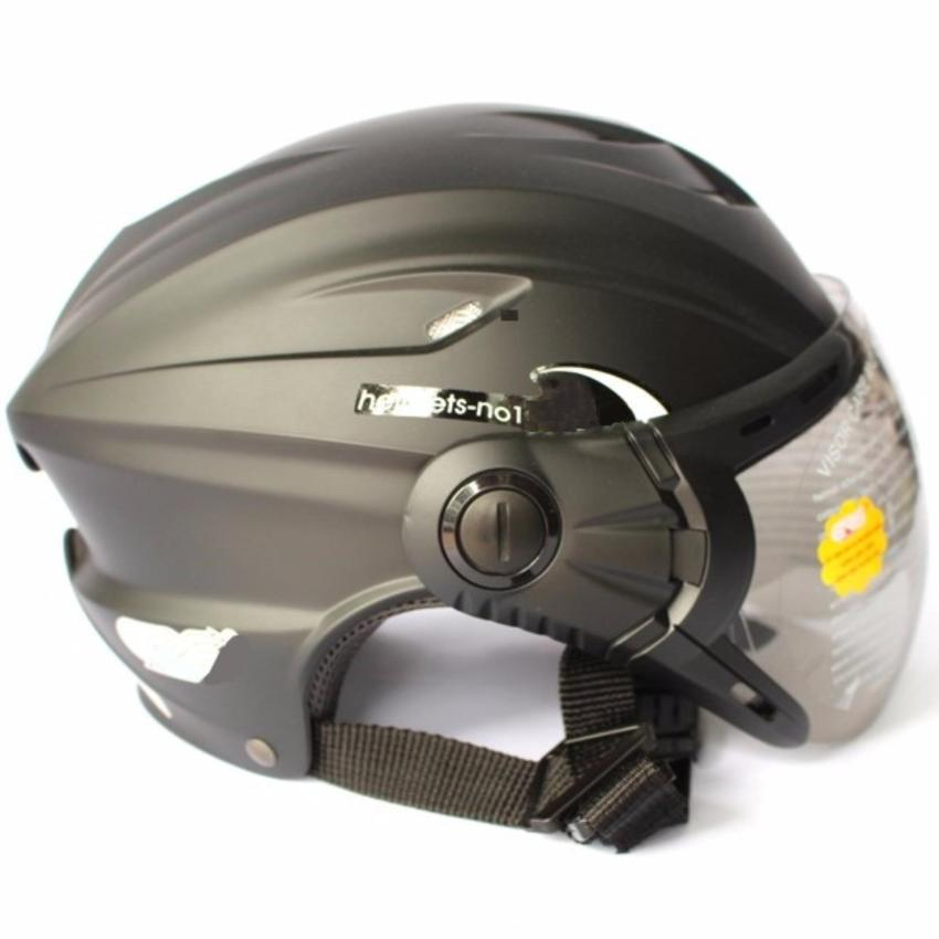 Mũ Bảo Hiểm PGK  A760K Có Kính ( Đen Nhám )