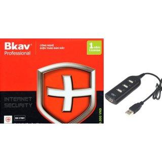 [Khuyến mại] Phần mềm diệt virut Bkav Pro Internet Security tặng bộ chia USB 4 cổng 1000000319+1000000056 thumbnail