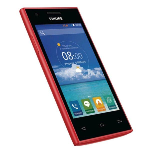 Philips S309 4GB 2 Sim (Đen đỏ)