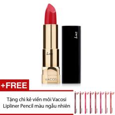 Giá Bán Son Moi Vacosi Love Luxury Lipstick Rd308 Red Candy 3 7G Tặng Chi Kẻ Viền Moi Vacosi Lipliner Pencil Mau Sắc Ngẫu Nhien Vacosi Vietnam