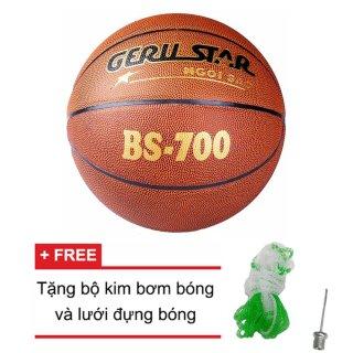 Quả bóng rổ Gerustar BS 700 (Nâu) + Tặng bộ kim bơm bóng và lưới đựng bóng thumbnail