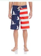 Giá Bán Quần Bơi Nam Họa Tiết Cờ Mỹ Duck Dynasty Men S Big Americana Flag Boardshort Mỹ Mới
