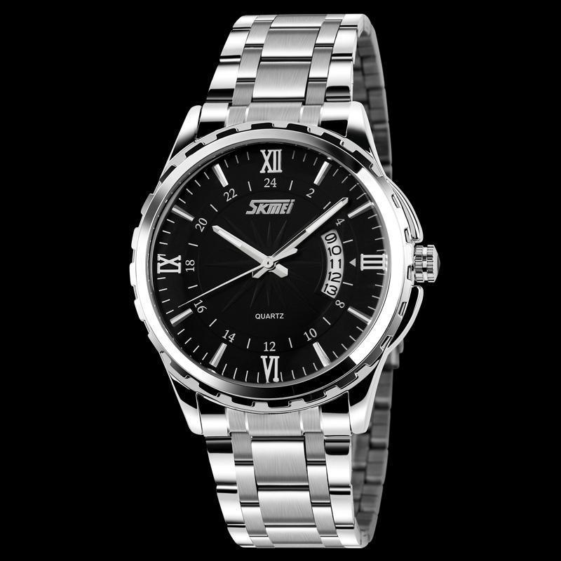 Đồng hồ nam thời trang chống nước Skmei  ( Đen ) 01