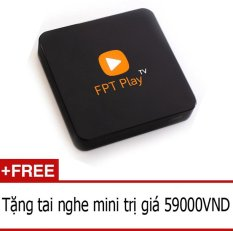 Smart TV box FPT Play box (Đen) + Tặng 1 tai nghe mini
