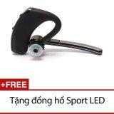 Giá Bán Tai Nghe Bluetooth Keao V8 Đen Tặng Đồng Hồ Sport Led Nhãn Hiệu Keao