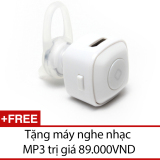 Giá Bán Tai Nghe Bluetooth Mini Nv V4 Trắng Tặng 1 May Nghe Nhạc Mp3 Rẻ