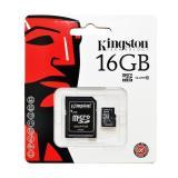 Thẻ Nhớ Kingston Micro Class 10 16Gb Kem Adaptor Nguyên