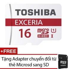 Ôn Tập Trên Thẻ Nhớ Microsd Toshiba Exceria 16Gb Đỏ Tặng 1 Adapter Chuyển Đổi Từ Thẻ Microsd Sang Sd
