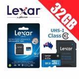 Bán Thẻ Nhớ Microsdhc Lexar 32Gb Uhs I Class 10 633X 95Mb S Kem Adapter Xanh Lam Đậm 32Gb Mới