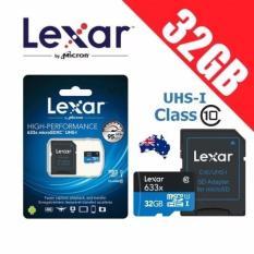 Giá Bán Thẻ Nhớ Microsdhc Lexar 32Gb Uhs I Class 10 633X 95Mb S Kem Adapter Xanh Lam Đậm 32Gb Lexar