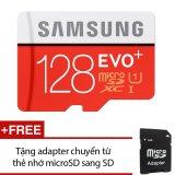 Ôn Tập Thẻ Nhớ Microsdxc Samsung Evo Plus 128Gb 80Mb S Đỏ Tặng 1 Adapter Chuyển Từ Thẻ Nhớ Microsd Sang Sd