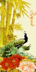 Tranh Dan Tường 3D Khổ Dọc Vtc Chim Cong Lunawall 0168 Trong Hồ Chí Minh