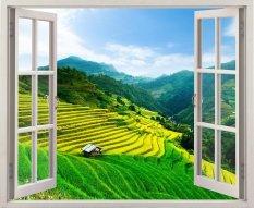 Bán Mua Trực Tuyến Tranh Dan Tường Cửa Sổ 3D Cảnh Đẹp Thien Nhien Vtc Vt0198