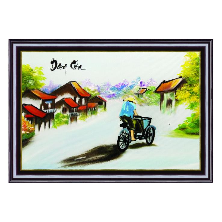 Tranh Phong Cảnh Vẽ Tay Dáng Cha Tp_48X68-03