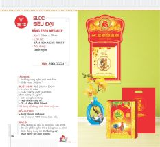 Mua Lịch TRÍ ĐỨC- Siêu đại: Cắm hoa nghệ thuật - Khánh Phúc Hán Metalize