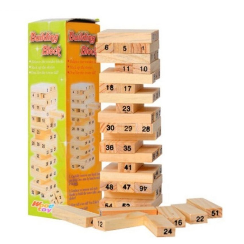 Hình ảnh Trò chơi rút gỗ 54 thanh Giá Tốt (Nâu gỗ)