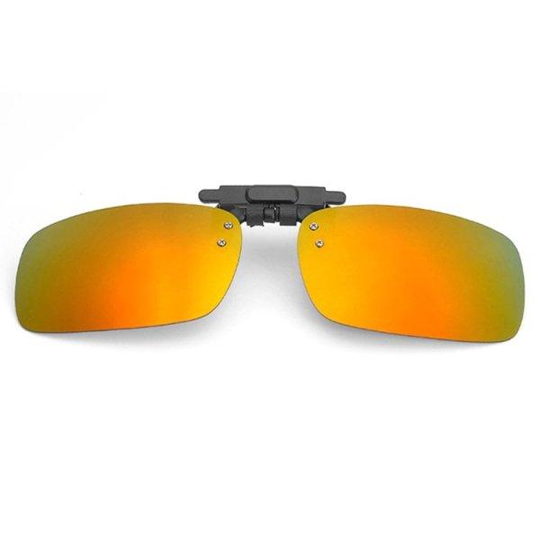 Giá bán Tròng kính mát kẹp phân cực cho người cận QSShop RE01VG (vàng tráng gương)