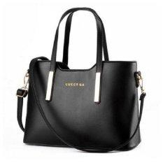 Giá Bán Tui Xach Nữ Kem Day Đeo Cao Cấp Le Tin Tx6969 26 2A Đen Nhãn Hiệu Letin Fashion Handbags