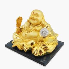 Tượng Phật Di Lạc Tren Xe O To Vang Trắng Trong Hà Nội