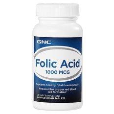 Viên uống bổ sung acid folic GNC Folic Acid 1000 100 viên nhập khẩu