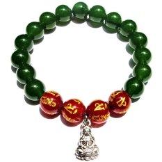 Giá Bán Vong Tay Trừ Ta Cẩm Thạch Nephite Phật Ba Ma Nao Khắc Kinh Chữ Phạn Gemstone Bank Nguyên