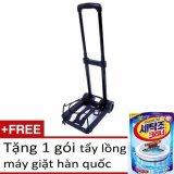 Giá Bán Xe Keo Gấp Gọn Tải Trọng 40Kg Ti320 Đen Tặng 1 Goi Tẩy Lồng May Giặt