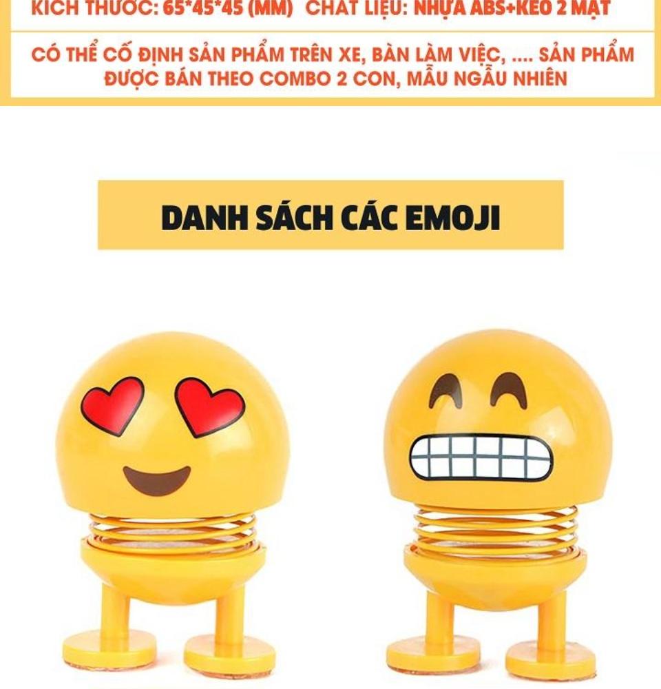 Thú nhún Emo.ji lò xo lắc đầu hình biểu tượng cảm xúc đáng yêu SP001635 - Thị trấn đồ chơi 2