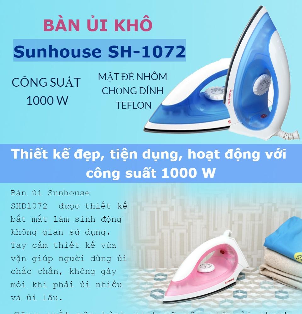Bàn ủi Sunhouse SHD1072 - Điện Việt - Khuyến Mãi Lớn 2021