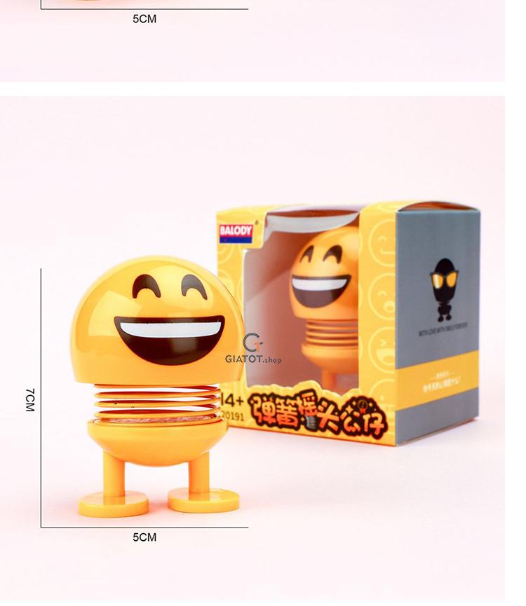 CMOBO 6 Thú Nhún Emoji con lắc lò xo con nhún 3