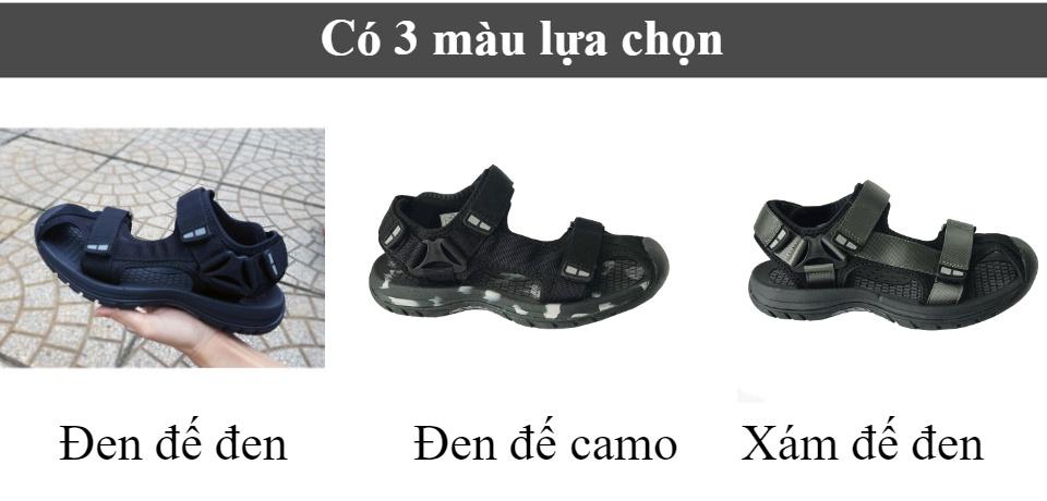 Giày sandal nam mũi rọ Rova RV25BB Đen
