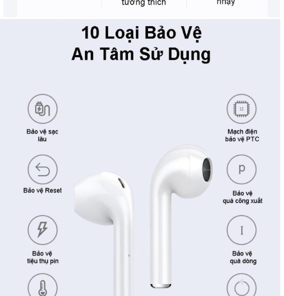 Tai Nghe Bluetooth Thế Hệ 12 5.0 TWS Nút Cảm Ứng Pin Trâu Có Cửa Sổ Kết Nối, Micro Đàm Thoại 2 Bên - Tai Nghe Không Dây Nhét Tai - Tai Nghe Bluetooth Mini - tai nghe bluetooth nhét tai 8