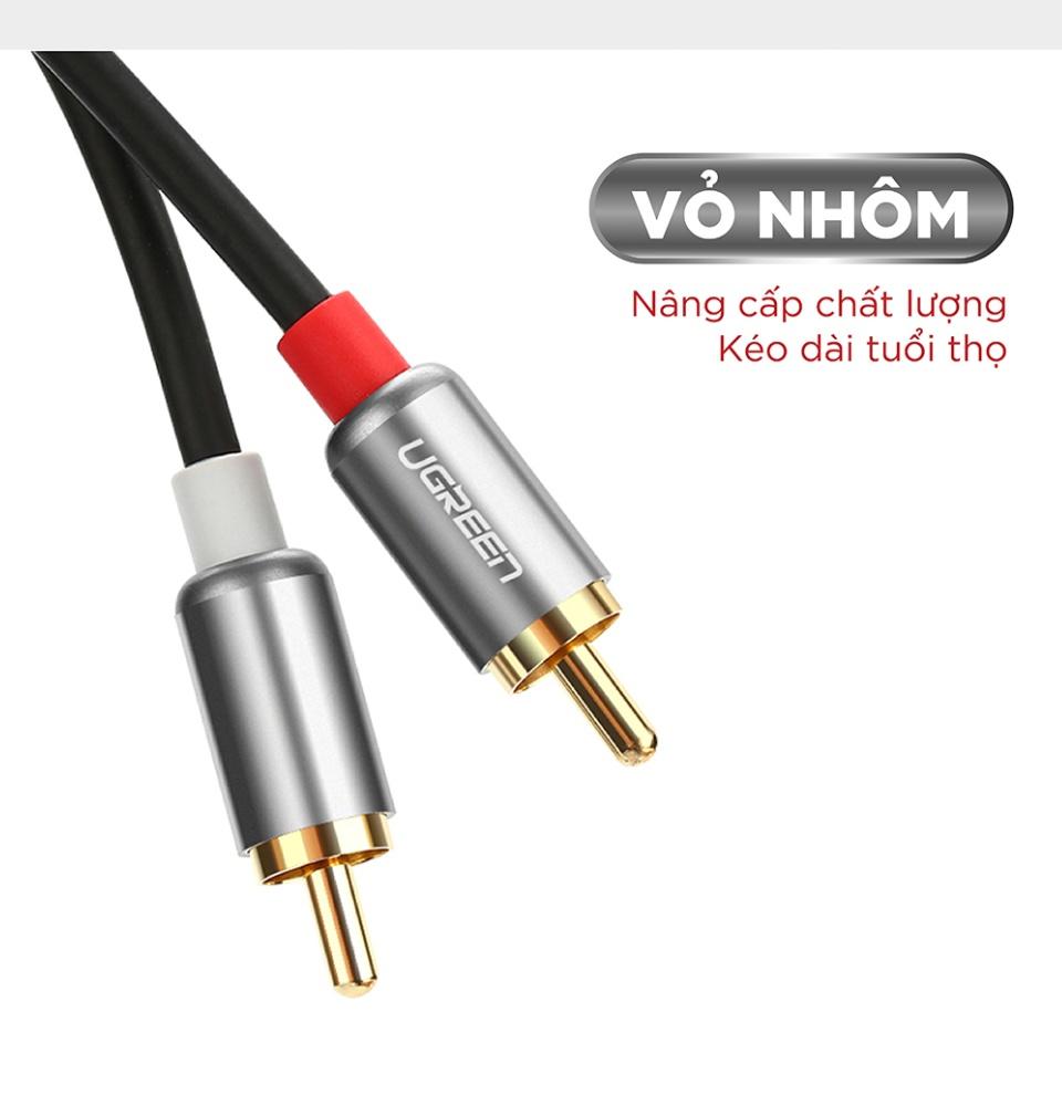 Cáp Audio 2 đầu RCA dài 0.5-5m UGREEN AV104