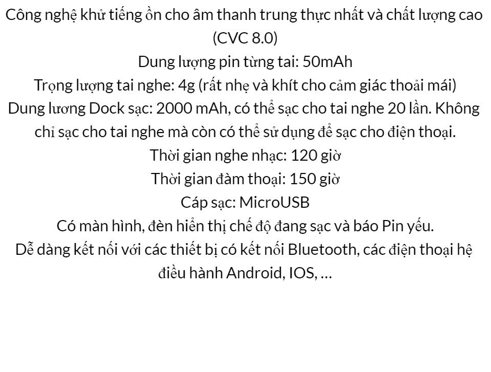 Tai Nghe Bluetooth Amoi F9 Bản Pro Quốc Tế Chip 5.0 , Chống Nước , Nút Cảm Ứng - Tai Nghe Bluetooth Amoi F9, Tai Nghe Bluetooth Nhét Tai Cho mọi dòng máy - Tai nghe buetooth không dây 10