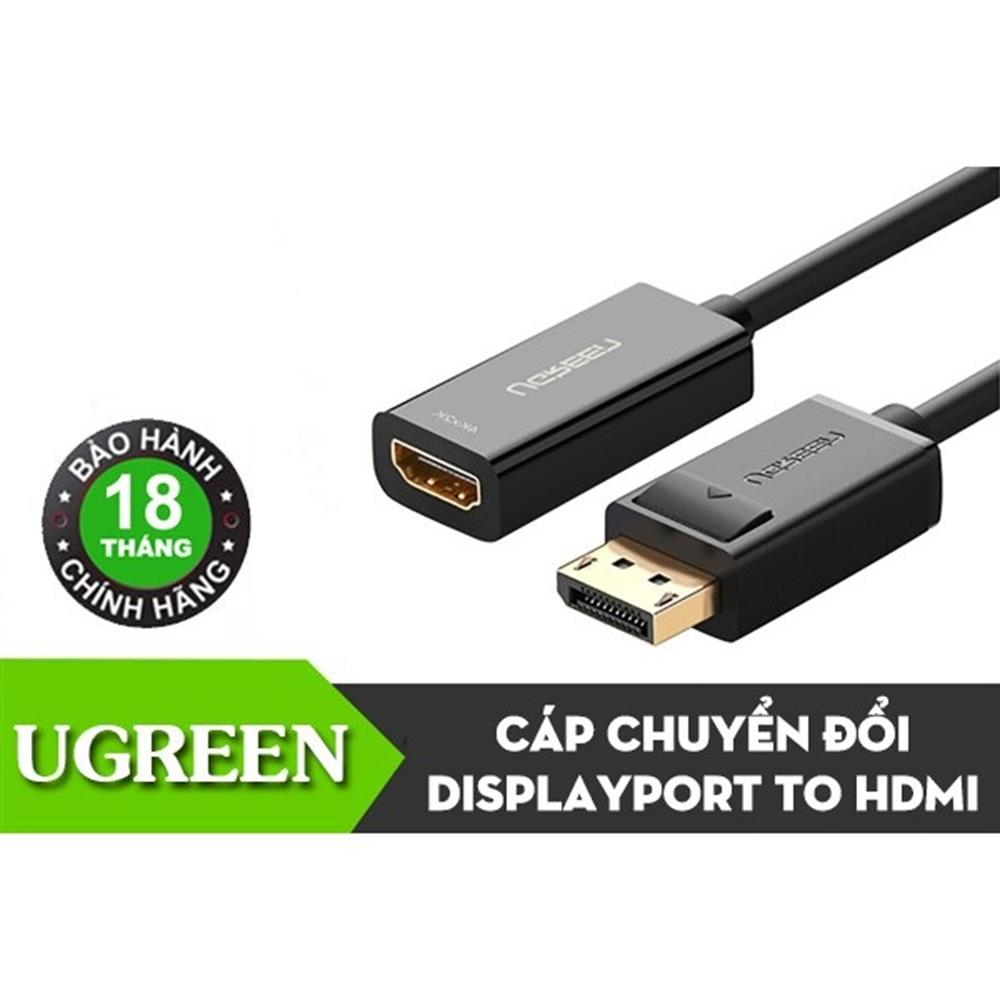 Cap-chuyen-Displayport-to-HDMI-Female-Ugreen-40363-Ho-tro-4K